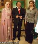 رغدة صدام مع السفير الليبي و حرمه